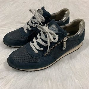 Paul Green Munchen Zipper Leather Sneakers